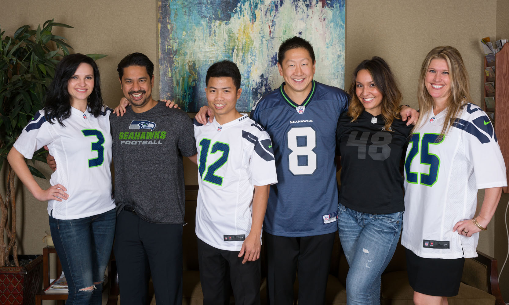 Seattle Aesthetic Facial Plastic Surgery Team Go Seahawks