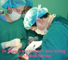 Dr. Philip Young Facial Plastic Surgeon in Procedure China Medical Mission